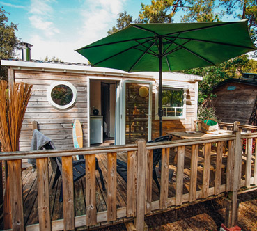 terrasse mobil home soulac